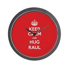 Hug Raul Wall Clock