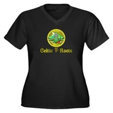 Celtic Roots.:-) Women's Plus Size V-Neck Dark T-S