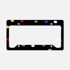 Black Disco Dots License Plate Holder