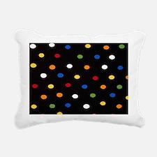 Black Disco Dots Rectangular Canvas Pillow