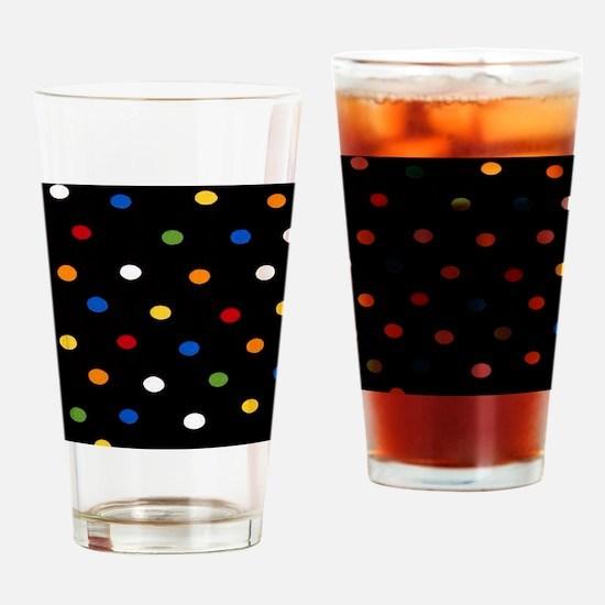 Black Disco Dots Drinking Glass