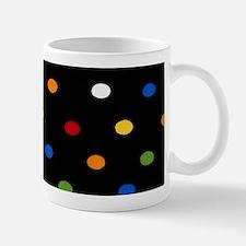 Black Disco Dots Mugs