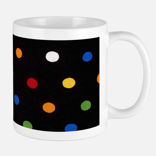 Black Disco Dots Mugs