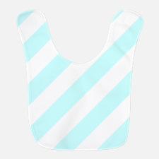 Baby Blue Striped Bib