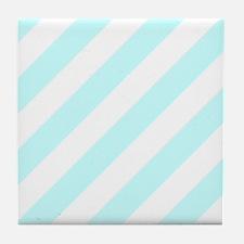Baby Blue Striped Tile Coaster