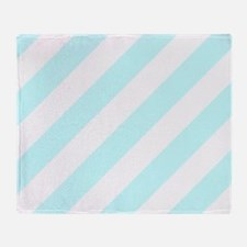 Baby Blue Striped Throw Blanket
