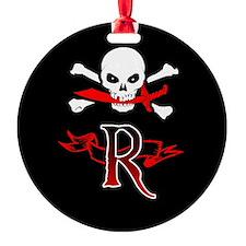 Jolly Roger monogram R Ornament