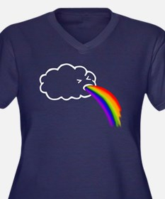 Barfing Rainbows Plus Size T-Shirt