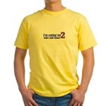Eating For 2 Yellow T-Shirt