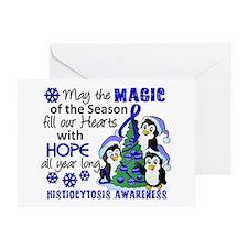 Histiocytosis Christmas Penguins Greeting Card