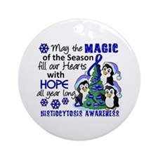 Histiocytosis Christmas Penguins Ornament (Round)
