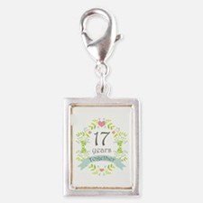 17th Anniversary flowers and Silver Portrait Charm