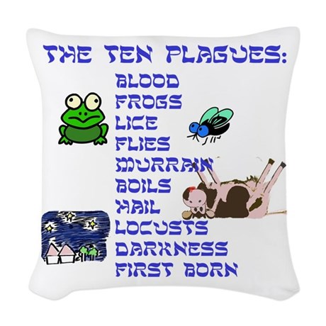 The Ten Plagues Woven Throw Pillow