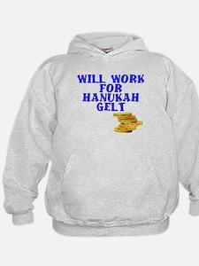 Will work for Hanukah getl Hoodie