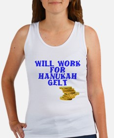 Will work for Hanukah getl Women's Tank Top