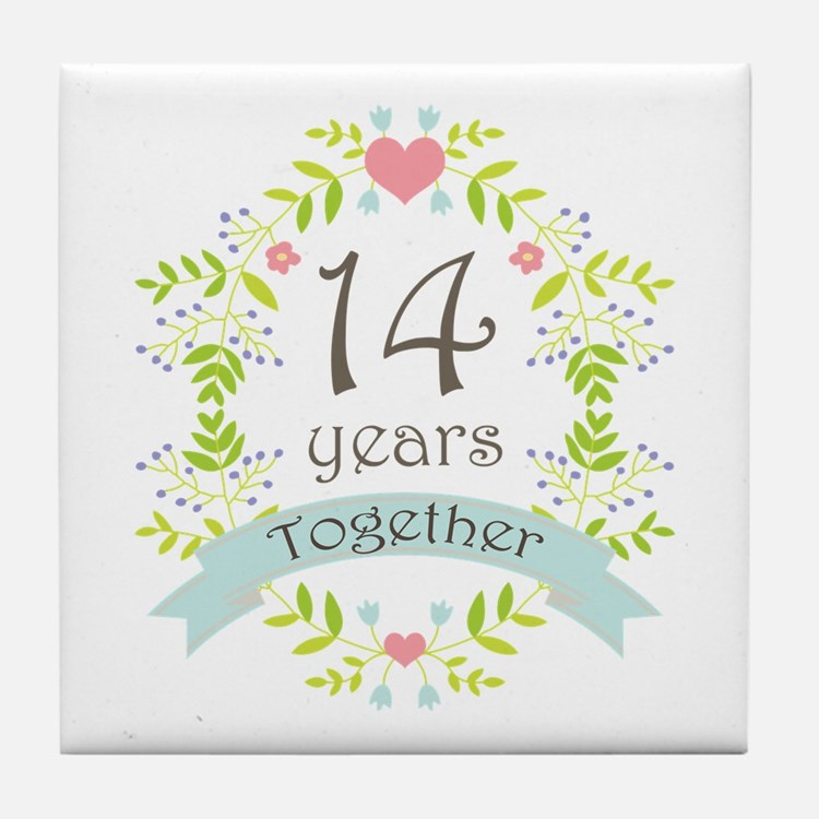 What Is The Gift For 14th Wedding Anniversary: 14Th Wedding Anniversary 14th Wedding Anniversary Coasters