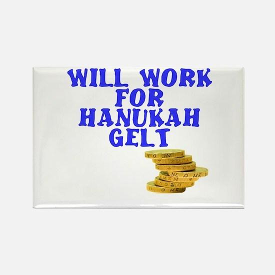 Will work for Hanukah getl Rectangle Magnet