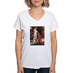 The Accolade Bull Terrier Women's V-Neck T-Shirt