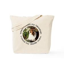Sheltie Spring Tote Bag
