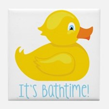 Its Bathtime! Tile Coaster