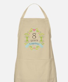 8th Anniversary flowers and hearts Apron