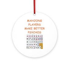 Mahjong (round) Round Ornament