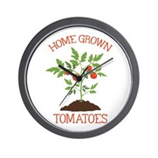 HOME GROWN TOMATOES Wall Clock