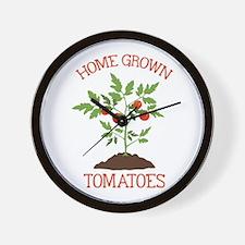 HOME GROWN TOMATOES Wall Clock