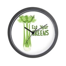Eat Your GREENS Wall Clock
