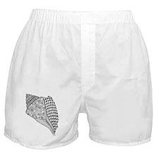 Unique Conch Shell Black and White De Boxer Shorts
