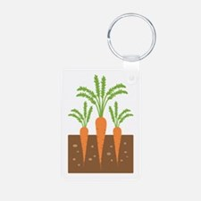Carrot Plants Keychains