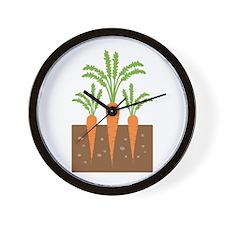 Carrot Plants Wall Clock