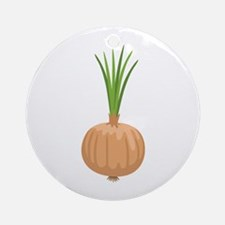 Onion with Leaves Ornament (Round)