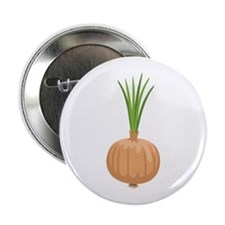 "Onion with Leaves 2.25"" Button"