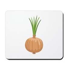 Onion with Leaves Mousepad