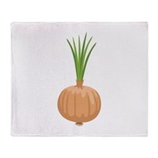 Onion with Leaves Throw Blanket