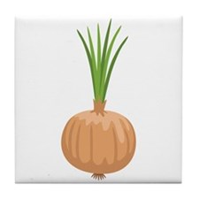 Onion with Leaves Tile Coaster
