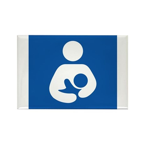 Universal Breastfeeding Symbol Rectangle Magnet (1