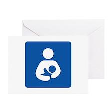Universal Breastfeeding Symbol Greeting Cards (Pac