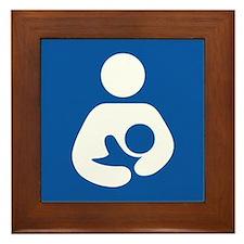 Universal Breastfeeding Symbol Framed Tile