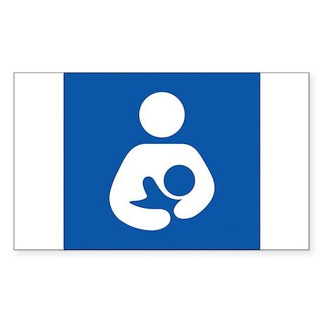 Universal Breastfeeding Symbol Sticker (Rectangula