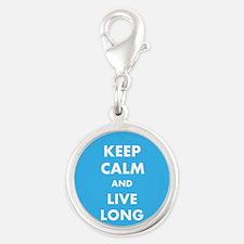 Keep Calm and Live Long Star Trek Humor Charms
