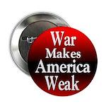 Ten War Makes America Weak Buttons