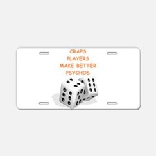 craps Aluminum License Plate