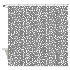 Dog Bone Grey Shower Curtain
