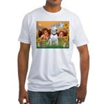Angels & Bull Terrier #1 Fitted T-Shirt