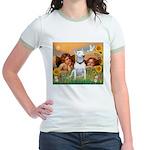 Angels & Bull Terrier #1 Jr. Ringer T-Shirt