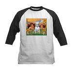 Angels & Bull Terrier #1 Kids Baseball Jersey