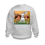 Angels & Bull Terrier #1 Kids Sweatshirt