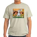 Angels & Bull Terrier #1 Light T-Shirt